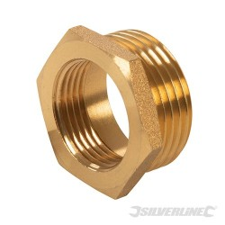 "Brass Hexagon Bush - 1"" (Male) x 3/4"" (Female)"