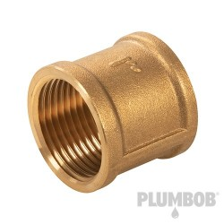 "Brass Socket - 1"" (Female) x 1"" (Female)"