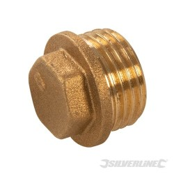 Brass Flanged Plug - 1/2 (male)