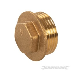 "Brass Flanged Plug - 3/4"" (male)"
