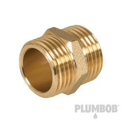 "Brass Hexagon Nipple - 1/2"" (Male) x 1/2"" (Male)"